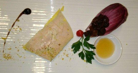 Terrine de foie gras au sucre de raisin